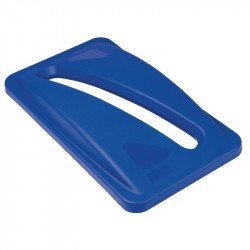 Couvercle bleu Rubbermaid Slim Jim