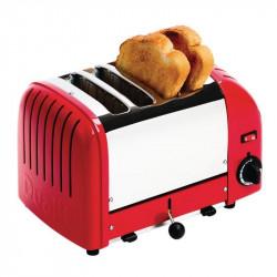 Grille-pain Dualit à 4 fentes rouge