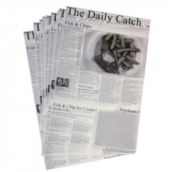 """Lot de 500 carrés de papier ingraissable, """"imprimé journal"""" EQUIPEMENT DIRECT Accessoires et pièces détachées"""