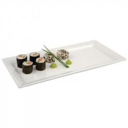 Plateaux rectangulaire blanc en mélamine Pure 35,5x18 cm