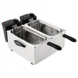 Friteuse double bacs 2 x 3,5 Litres