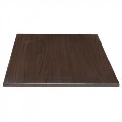 Plateau de table carré 30(H) x 600(L) x 600(P) mm - marron foncé BOLERO Plateaux de table
