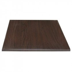 Plateau de table carre 700mm Bolero (marron fonce)