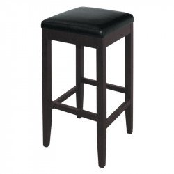 Lot de 2 Tabouret de bar haut en simili cuir noir