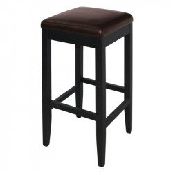 Lot de 2 Tabourets de bar haut en simili cuir (marron fonce)