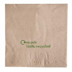 Serviettes en papier 100% recycle - 33x33cm (Boite de 2000) EQUIPEMENT DIRECT gastro