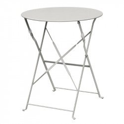 Table de terrasse en acier gris Bolero (ronde 600mm) BOLERO Tables