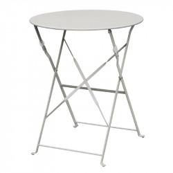 Table de terrasse en acier gris Bolero (ronde 600mm)