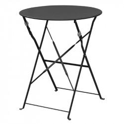 Table de terrasse en acier noir Bolero (ronde 600mm)