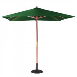 Parasol carre vert a poulie Bolero 2500mm