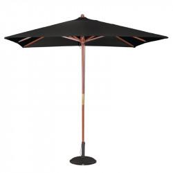 Parasol carre noir a poulie Bolero 2500mm