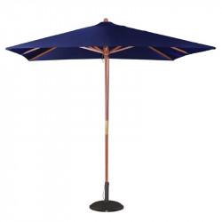 Parasol carre bleu marine a poulie Bolero 2500mm