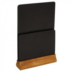 Chevalet de table ardoise double face - 325(h)x210(l)x55(p)mm