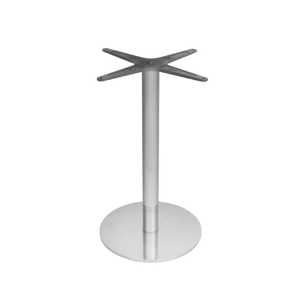 Pied de table rond en inox bolero bolero - Pied de table en inox ...