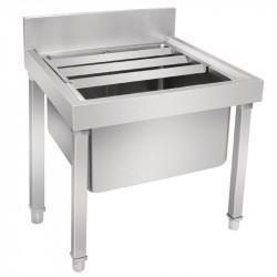 Bac vide seaux H 550 x L 500 x P 500 mm - inox VOGUE Gastro Pret
