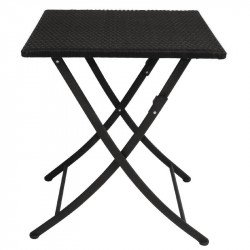 Table carree pliante rotin PE Bolero 600mm BOLERO Tables