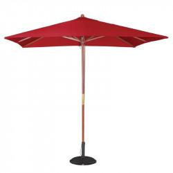 Parasol carre a poulie rouge Bolero 2,5m