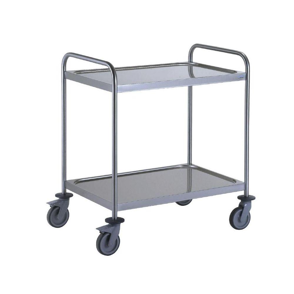 chariot de service 2 plateaux l 800 x p 530mm tournus. Black Bedroom Furniture Sets. Home Design Ideas