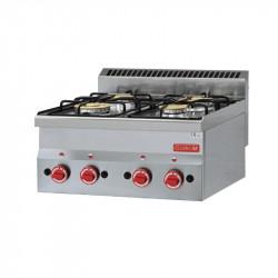 Réchaud 4 feux vifs gaz a poser 60/60 PCG GASTRO M Fourneaux Gaz