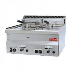 Friteuse gaz  2x 8 litres 600 mm FRG