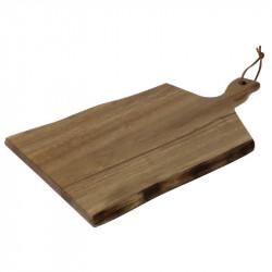 Petite planche en acacia bords ondulés Olympia 305x215x15mm manche 75mm OLYMPIA Planches à découper