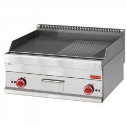 Fry-top électrique 650 avec plaque demie lisse demie rainurée