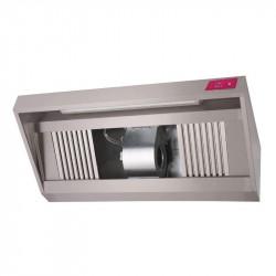 Hotte complète P 900 x H 540 mm - inox