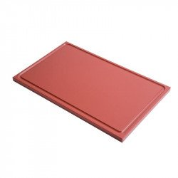 Gastro-M GN1/2 HDPE chopping board with groove - brown 15mm