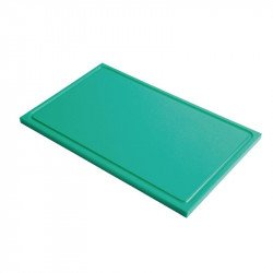Gastro-M GN1/2 HDPE chopping board with groove - green 15mm