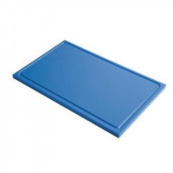 Gastro-M GN1/2 HDPE chopping board with groove - blue 15mm