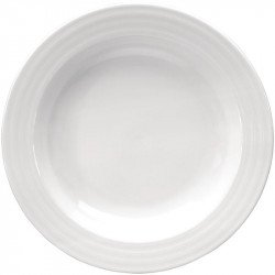 Lot de 4 Assiettes à soupe 230mm Intenzzo blanches INTENZZO Collection Intenzzo