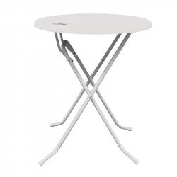 Table haute Dubai 70cm blanche GEEN MERK Tables