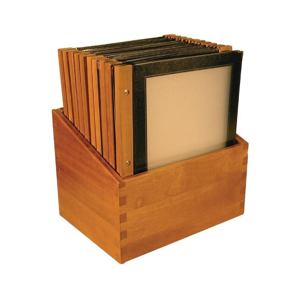 porte menu cadre bois noir a4 colis de 20 pr sentoir securit. Black Bedroom Furniture Sets. Home Design Ideas