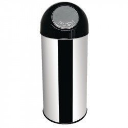 Poubelle en inox avec couvercle rabattable 50Ltr 30.5x82cm