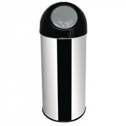 Poubelle en inox avec couvercle rabattable 50Ltr 30.5x82cm BOLERO Poubelles