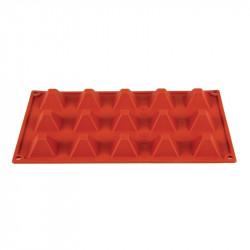 Plaque 15 pyramides Pavoni Formaflex silicone