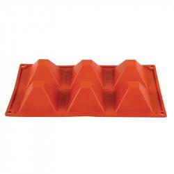 Plaque 6 pyramides Pavoni Formaflex silicone