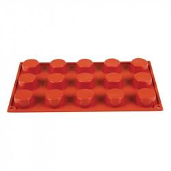 Plaque 15 petits-fours Pavoni Formaflex silicone