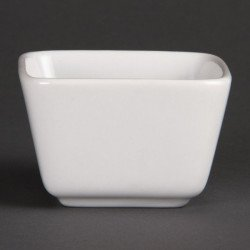 Olympia blanc, mini plats 75x75x50 mm (Box 12)