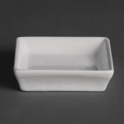 Mini plats Olympia blanc, 8x8x2cm (Box 12) OLYMPIA Plats