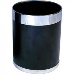 Corbeille à papier à bord argenté BOLERO gastro