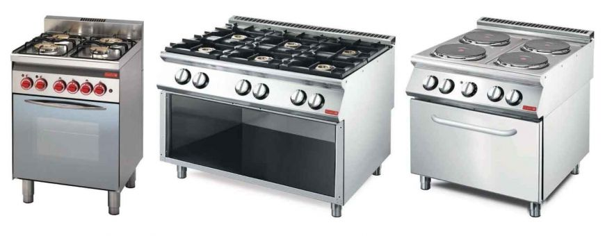 Fourneaux de cuisine professionnel inox