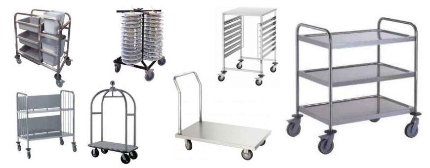 Chariots Inox Professionnels - Chariots de Services  et chariots à glissières