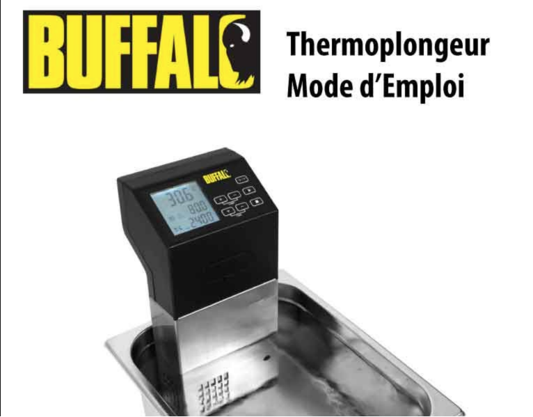 Thermoplongeur Buffalo - Mode d'Emploi